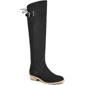 Faux suede Guess boots
